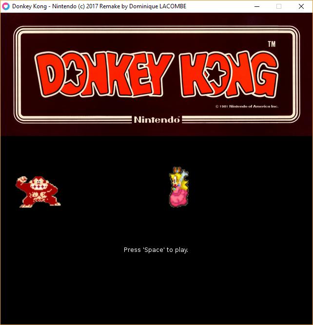 Donkey Kong Remake (Lua/Löve2D)